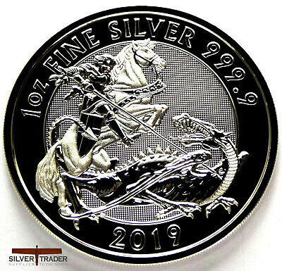 2019 Silver Valiant 1oz Royal Mint Silver Bullion Coin unc: