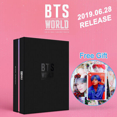 [Pre-order] BTS WORLD OST CD+PhotoCard+Poster+Game Coupon+Lenticular+Store Gifts