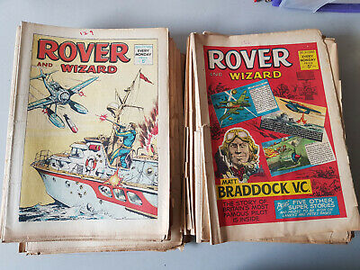 ROVER & WIZARD COMIC 52 issues from 1966 - FULL YEAR!!