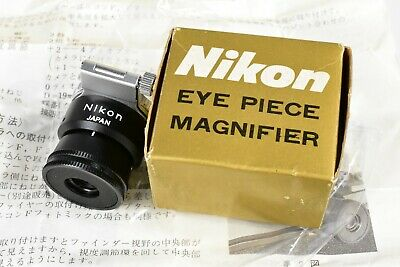 Nos! Vintage Nikon F Era Eye Piece Magnifier (Dg-2) Boxed With Manual-Nice!