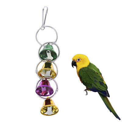 Pet Toy Play Bell Chew Toy Parrot Bird Colorful Bell Chain Bird Accessories T NT