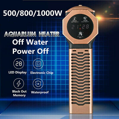 500/800/1000W Heating Rod Heater Aquarium Thermostat Tropical Marine Fish Tank