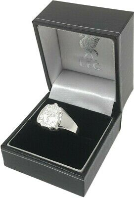 Liverpool Fc Licensed Sterling Silver Crest Ring Complete In Gift Box Lfc
