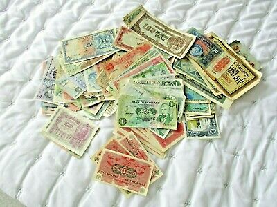 169 world banknotes 28 are redeemable from UNC TO POOR please see photo's