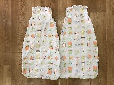 Pair of 2 Summer Baby Girl/Boy/Unisex 1 tog 6-18 month Cotton Grobags