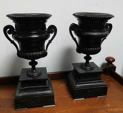 pair of slate /marble bronze taZZAS