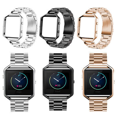 Replacement for Fitbit Blaze Stainless Steel Watch Band Wrist Strap Metal Frame