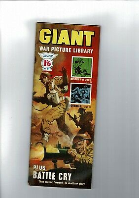 GIANT WAR PICTURE LIBRARY No. 34 from 1965  1'6 Fleetway Library