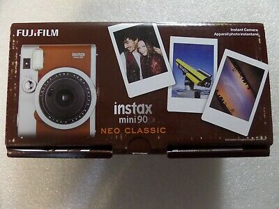 Fujifilm Instax Mini 90 Neo Classic Instant Film Camera (Brown) Brand New