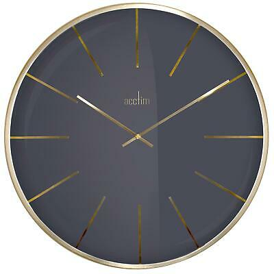 Acctim Luxe Brass Domed Glass 40cm Wall Clock Minimalist Design Home / Office