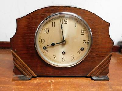 garrard oak cased westminster chimes mantel clock