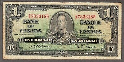 1937 Bank of Canada - $1.00 Bank Note - Very Good - Osborne Towers C/A 7836185