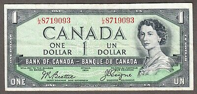 1954 Bank of Canada - $1.00 Devil Face Note - VF - Beattie Coyne - L/A 8719093
