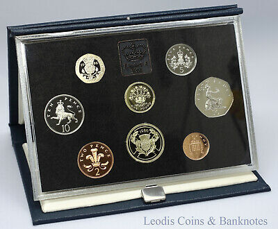 1986 UK Proof Coin Collection ~ Royal Mint Year Set ~ Blue Case