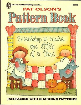 PAT OLSON'S PATTERN BOOK Decorative Painting by Grace Publications ©1995