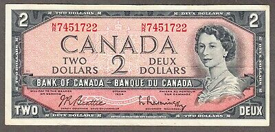 1954 Bank of Canada - $2.00 Note - Fine - Beattie Rasminsky - N/R 7451722