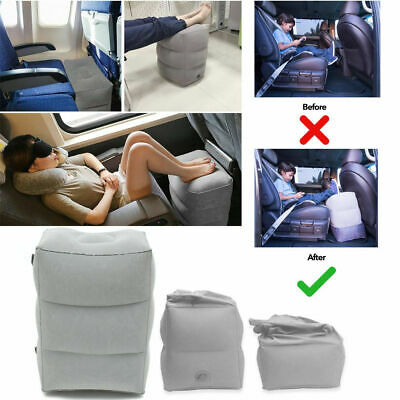 Inflatable Travel Leg Foot Rest Adjustable Pillow Portable Air Pad Cushion O2Y6Z