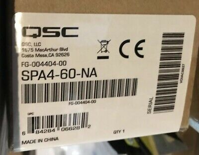 QSC SPA 2-CHANNEL Power Amplifier (60W/Channel) SPA2-60 New