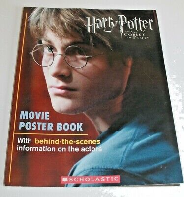Scholastic Vintage 2005 Harry Potter and the Goblet of Fire Movie Poster Book