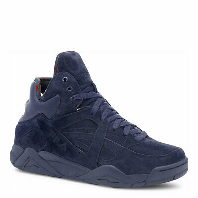 FILA THE CAGE Mens Navy Fashion Sneaker Suede Basketball