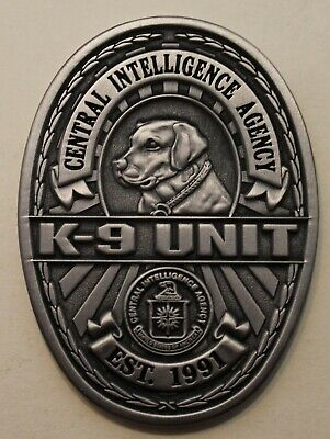 Central Intelligence Agency CIA K9 / Working Dog Special Services Challenge Coin