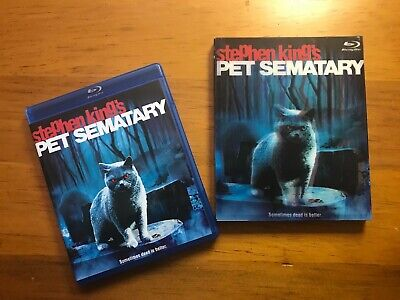 Pet Sematary Blu-Ray w/ OOP Lenticular Slipcover