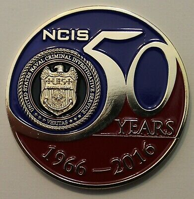 Naval Criminal Investigative Service NCIS 50 Years 1966-2016 Navy Challenge Coin