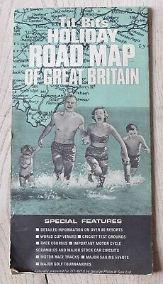 Vintage Tit-Bits Holiday Road Map of Great Britain 1966
