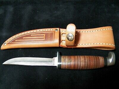 "*P CASE XX FINN SS Fixed Blade Hunting Knife with Leather Sheath - 4-1/8"" Blade"