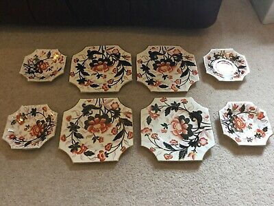 Collection Of 19th Century Shelley-Wileman Imari Plates And Saucers