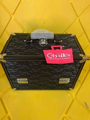 Caboodles 5879-10 Stylist Train Case, Black Lace Over Silver FREE US SHIPPING