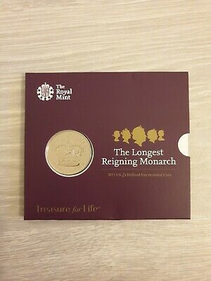 2015 The Longest Reigning Monarch £5 Pound Coin BUNC Royal Mint. NOT SEALED.