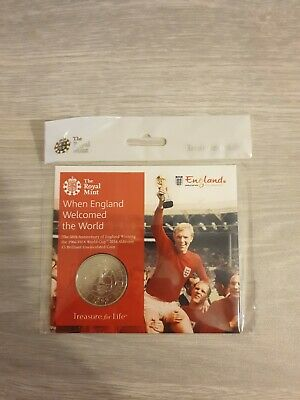 2016 Royal Mint FIFA 1966 World Cup England BU £5 Five Pound Coin Pack Sealed