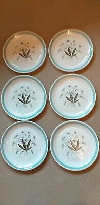 6  Alfred Meakin Hedgerow Design 10 inch Dinner Plates.