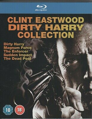 Blu-Ray Dirty Harry          Clint Eastwood              Coleccion Completa 5 Br
