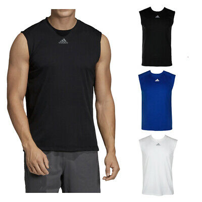 Adidas Men's Sleeveless Ultimate Muscle Gym Running Tank Top