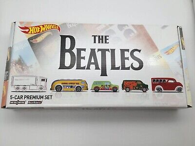 Hot Wheels The Beatles 5-Car Premium Set Boxed Sealed Un-Opened FREE SHIPPING
