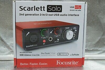Focusrite Scarlett Solo (2nd Gen)2-in/2-Out USB audio interface 24 bit/ 192 kHz