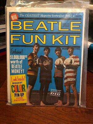 """Beatles 1964 """"Beatle Fun Kit"""" - sealed with Certificate of Authenticity"""