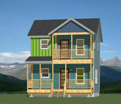 CUSTOM TINY HOUSE Home Building Plans 1 bed Cottage 575 sf
