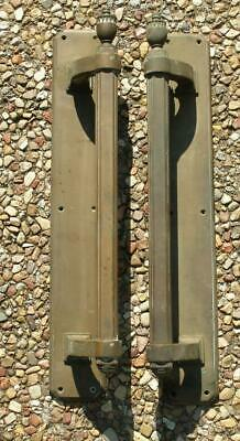 Pair Heavy Antique Bronze Door Handles Door Pulls Architectural Salvage Vintage
