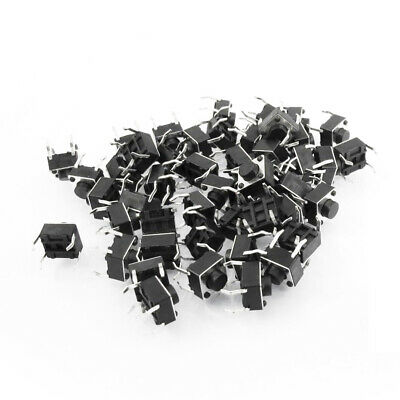 50x 6x6x4.3mm 4pin tactile tact push button micro switch dip feet coppeYNFKRDRK