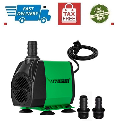Water Pump 800 GPH Submersible Fish Aquarium Tank Fountain Pond Hydroponic 55W