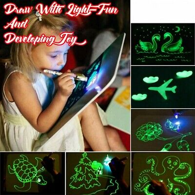 Draw With Light Fun And Developing Toy-Drawing Board Magic Draw Educational NEW
