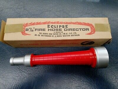 "Fire Hose Director / Nozzle 2-1/2"" with 3/4"" Nozzle - CFA type base – NOS"