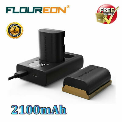 2x LP-E6 Battery Dual Charger Set For Canon 5D Mark II III IV, 5Ds, 6D, 70D, 80D
