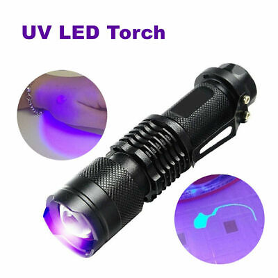 UV Ultra-Violet LED Flashlight Blacklight Light 395/365nM Inspection Lamp Torch