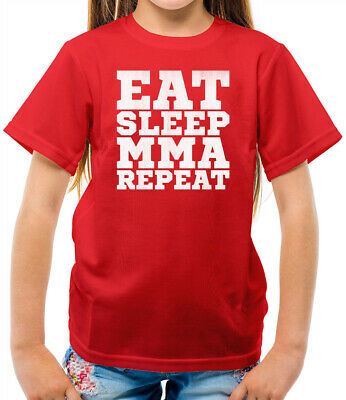 Eat Sleep MMA REPEAT - Kids T-Shirt - Mixed Martial Arts - Karate - Fighting