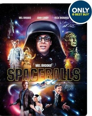 SPACEBALLS Blu Ray STEELBOOK Region A New & Sealed RARE Best Buy USA Exclusive