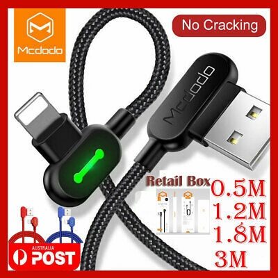 3M 2M 1M Mcdodo Lightning Cable Charging Charger For iPhone 7 8 Plus XR XS MAX X